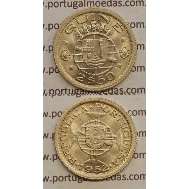 GUINÉ - 2$50 CUPRO-NÍQUEL 1952 (SOB)