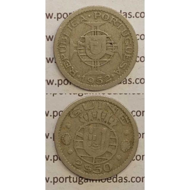 GUINÉ - 2$50 CUPRO-NÍQUEL 1952 (BC)