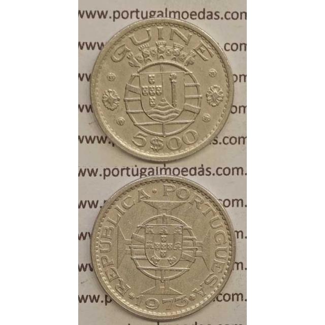 GUINÉ - 5$00 CUPRO-NÍQUEL 1973 (MBC+)