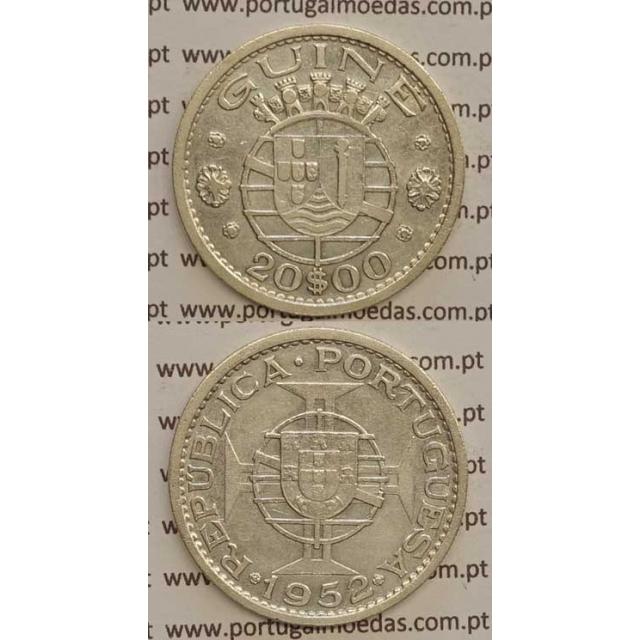 GUINÉ - 20$00 PRATA 1952 (MBC)