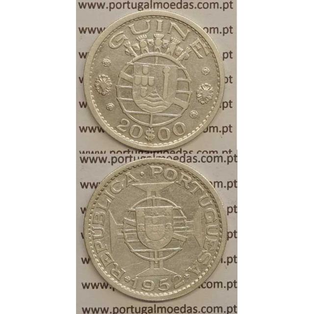 GUINÉ - 20$00 PRATA 1952 (BC+)
