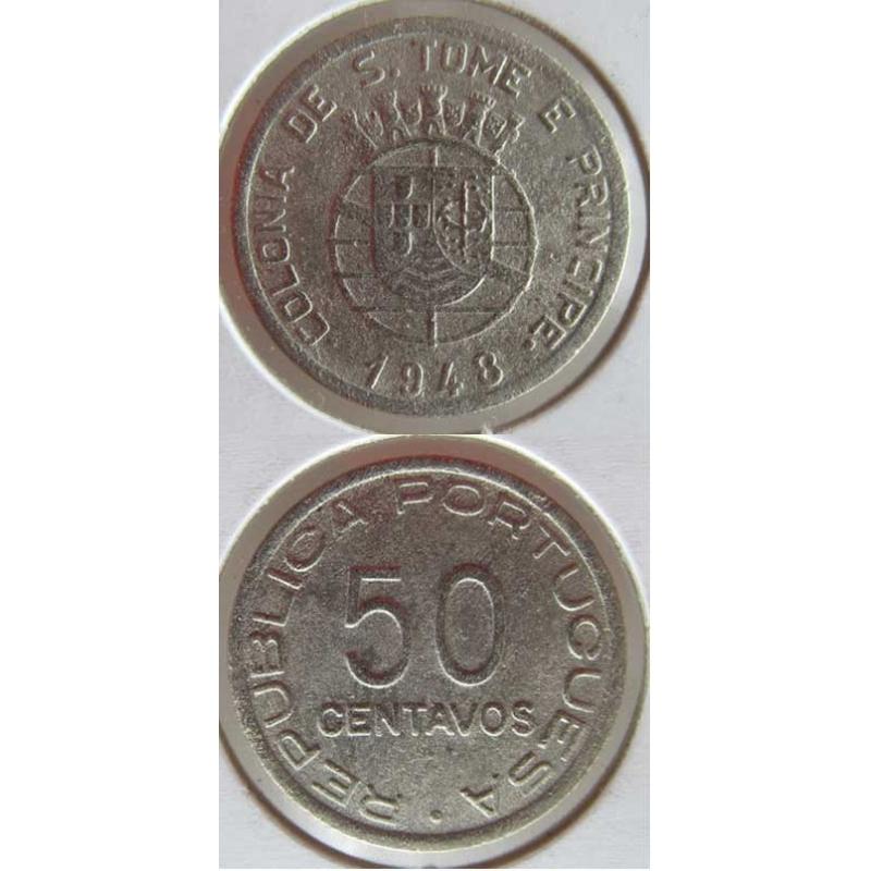 50 CENTAVOS ALPACA 1948 (MBC-)