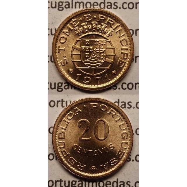 20 CENTAVOS BRONZE 1971 (SOB)