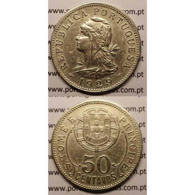 50 CENTAVOS ALPACA 1929 (MBC+)
