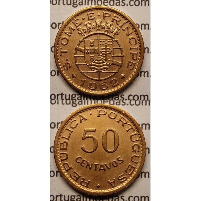50 CENTAVOS BRONZE 1962 (BELA)