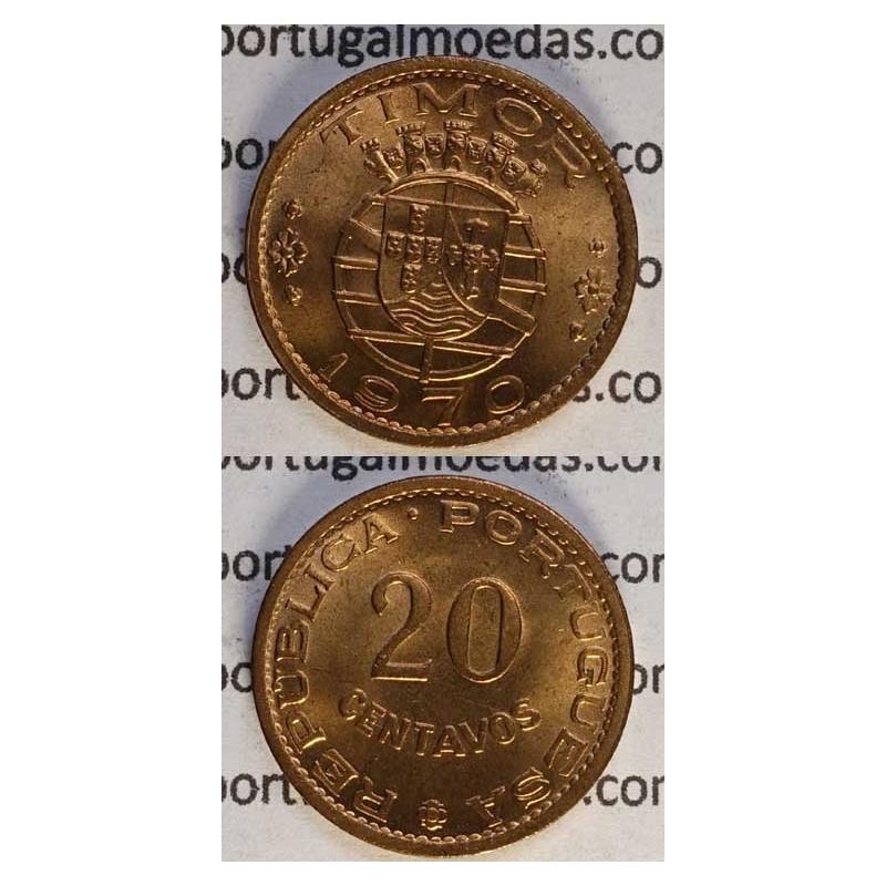 20 CENTAVOS BRONZE 1970 (SOB)