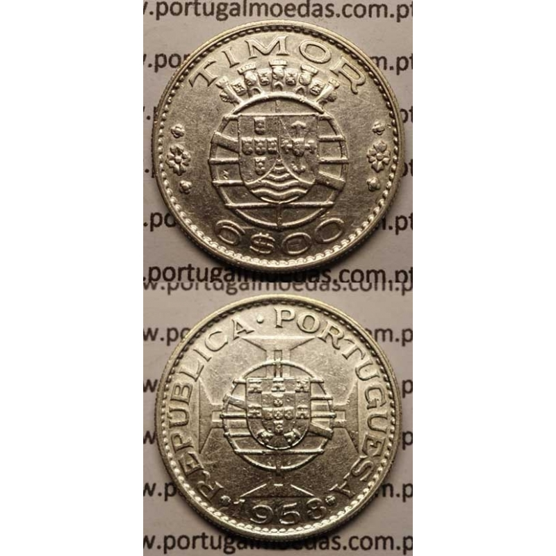 6$00 PRATA 1958 (MBC+)