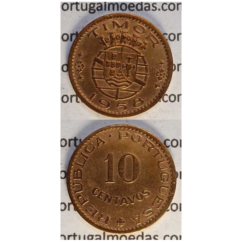10 CENTAVOS BRONZE 1958 (BELA-)