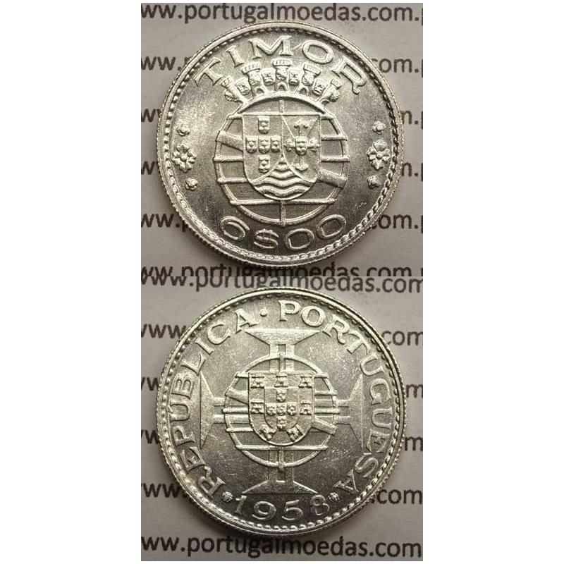 6$00 PRATA 1958 (SOB) TIMOR