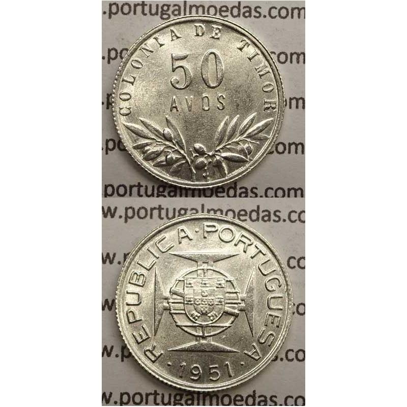 50 AVOS PRATA 1951 (SOB) TIMOR