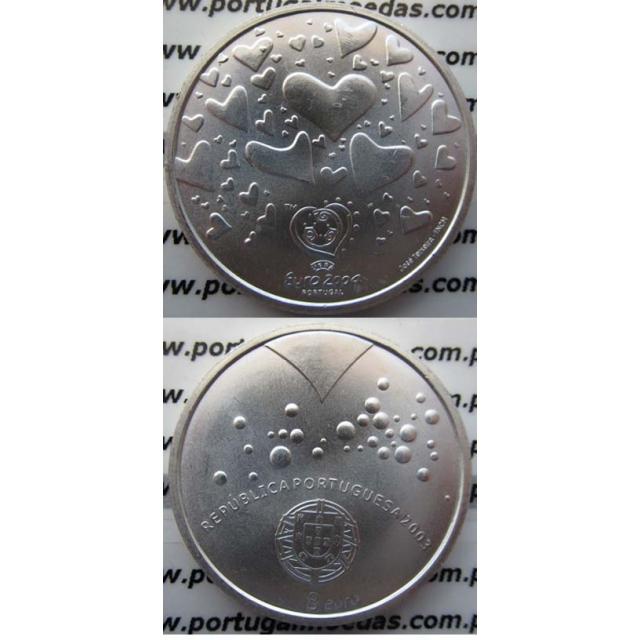 """8 EUROS PRATA 2003 """"FUTEBOL É PAIXÃO"""" (BELA/SOB)"""