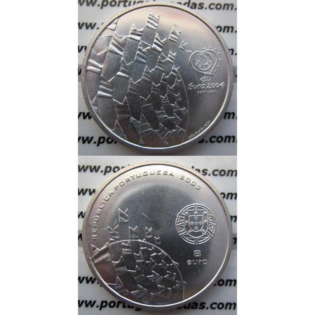 """8 EUROS PRATA 2003 """"FUTEBOL É FESTA"""" (BELA/SOB)"""