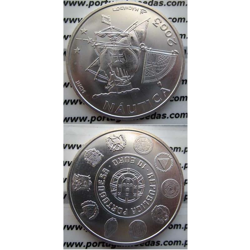 """10 EUROS PRATA 2003 """"NÁUTICA"""" (BELA/SOB)"""