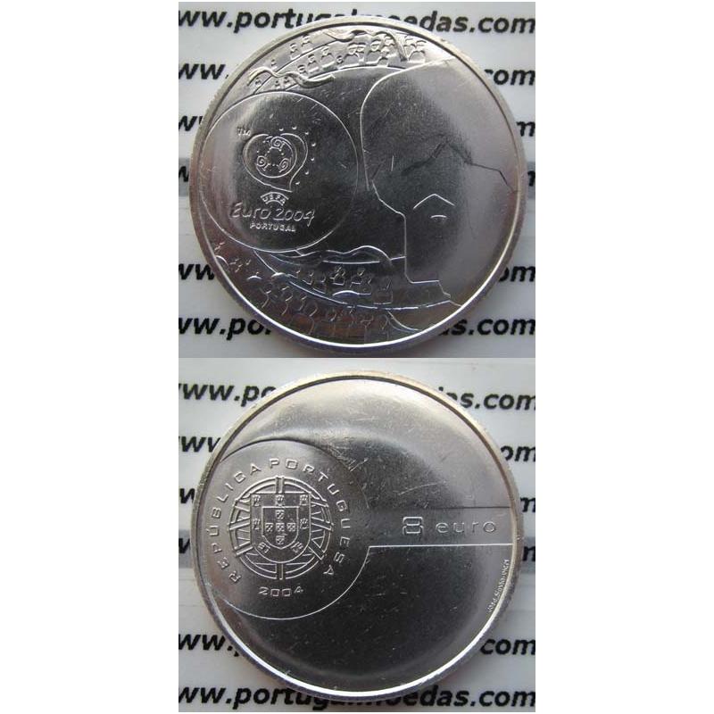 """8 EUROS PRATA 2004 """"O REMATE"""" (BELA/SOB)"""