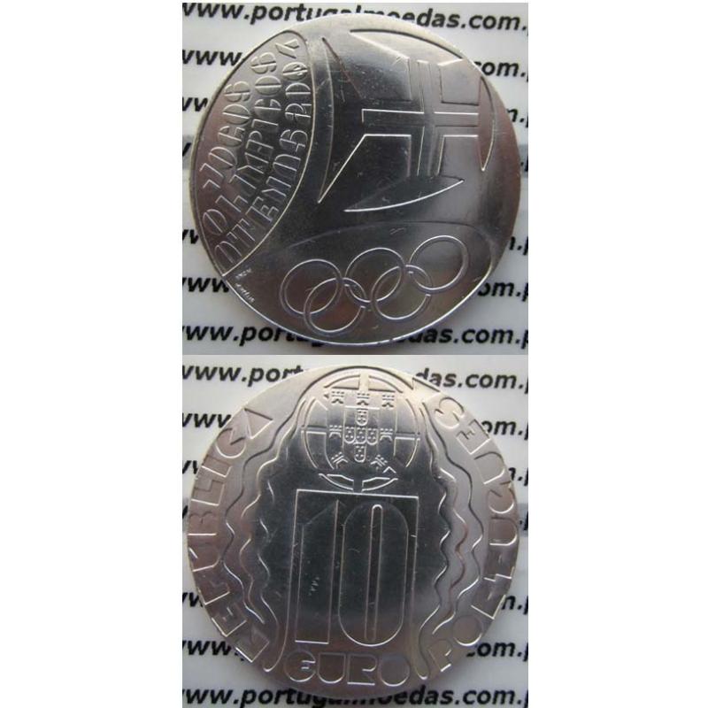 """10 EUROS PRATA 2004 """"JOGOS OLÍMPICOS DE ATENAS"""" (BELA/SOB)"""