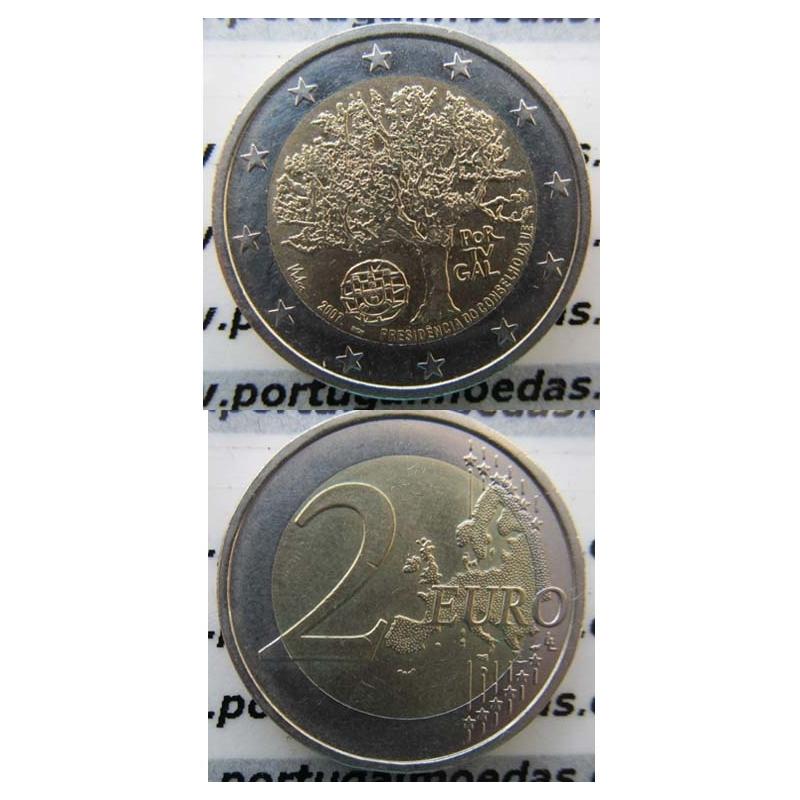 """2 EUROS BIMETÁLICA 2007 """"PRESIDENCIA PORTUGUESA DA UNIÃO EUROPEIA """" (BELA/SOB)"""