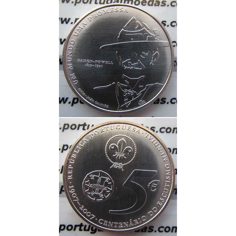 "5 EUROS PRATA 2007 ""MOVIMENTO ESCUTISTA"" (BELA/SOB)"