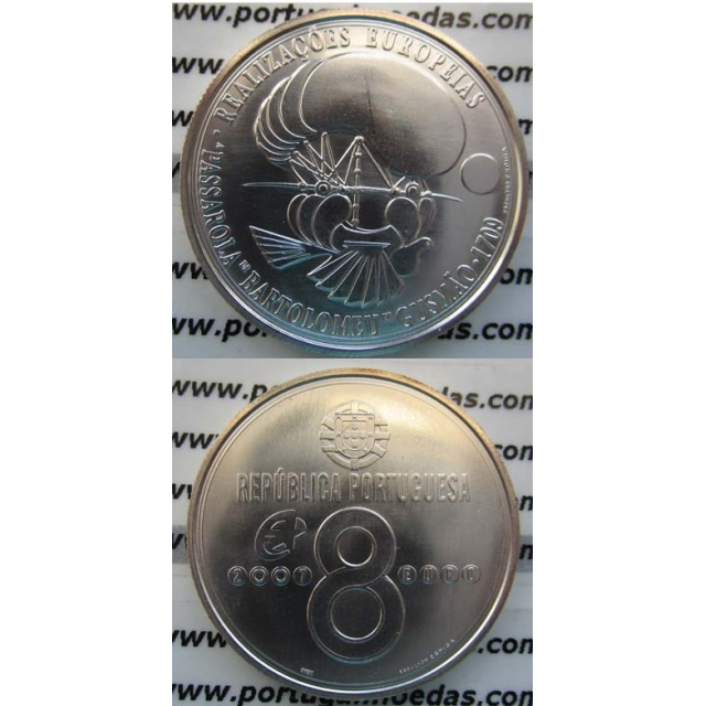 "8 EUROS PRATA 2007 ""A PASSAROLA"" (BELA/SOB)"