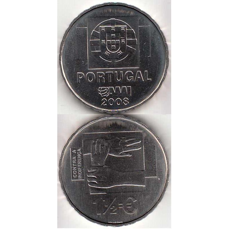 """1,50 EUROS CUPRO-NIQUEL 2008 """"AMI"""" (BELA/SOB)"""