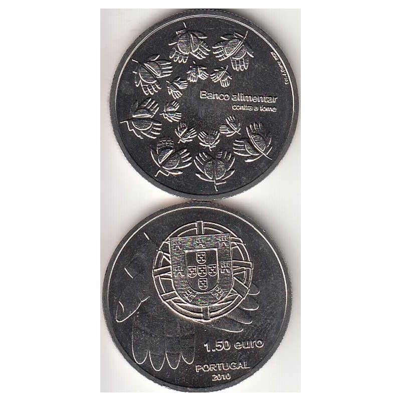 """1,50 EUROS CUPRO-NIQUEL 2010 """"BANCO ALIMENTAR CONTRA A FOME """" (BELA/SOB)"""