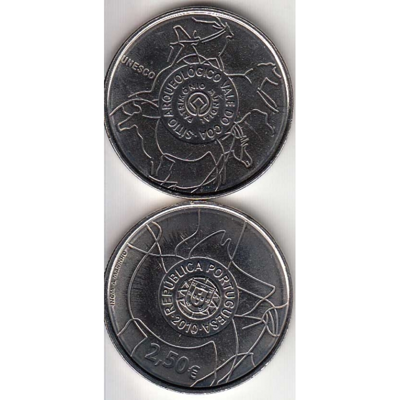 """2,50 EUROS CUPRO-NÍQUEL 2010 """"SÍTIO ARQUEOLÓGICO DO VALE DO CÔA """" (BELA/SOB)"""