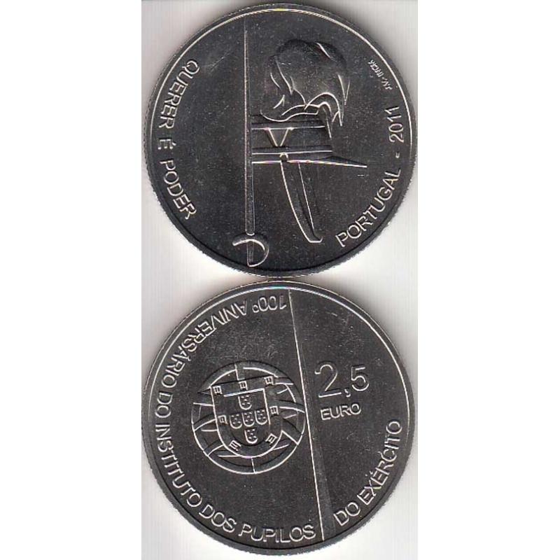 """2,50 EUROS CUPRO-NÍQUEL 2011 """"100º ANIVERSÁRIO DOS PUPILOS DO EXÉRCITO """" (BELA/SOB)"""