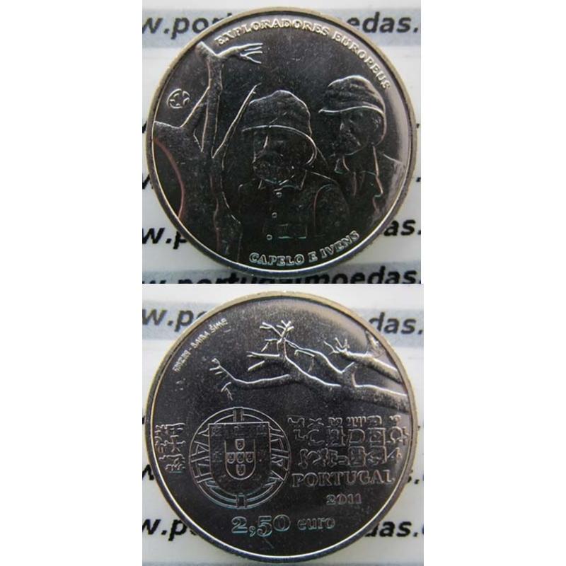 """2,50 EUROS CUPRO-NÍQUEL 2011 """"EXPLORADORES EUROPEUS """" (BELA/SOB)"""