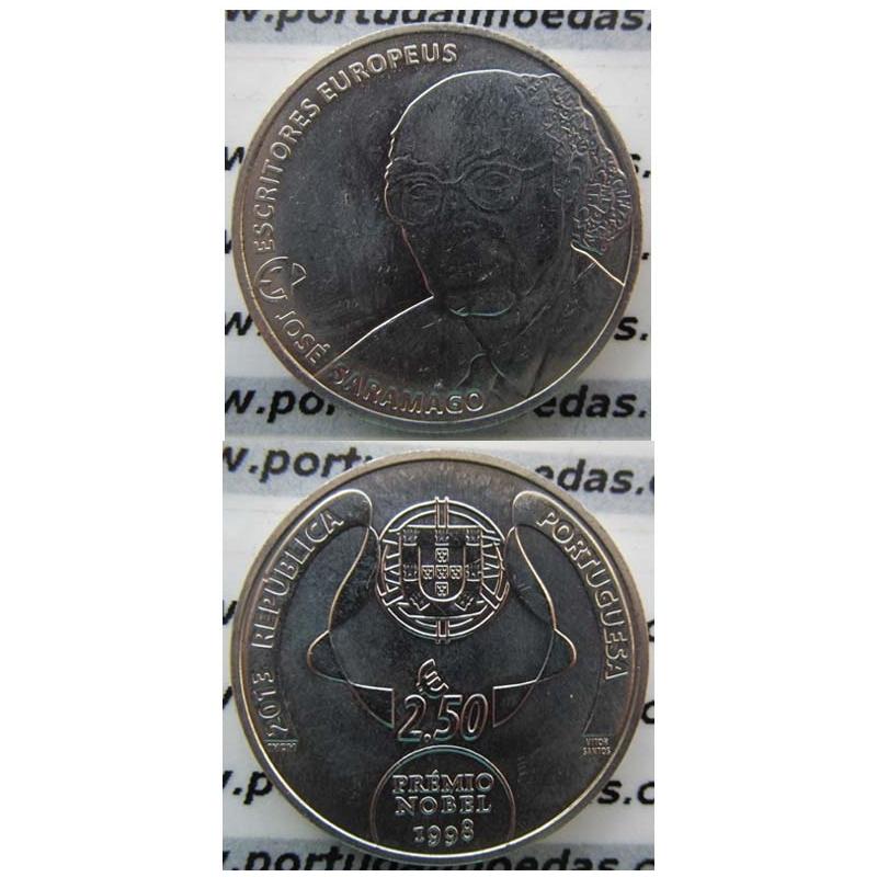 "2,50 EUROS CUPRO-NÍQUEL 2013 ""JOSÉ SARAMAGO "" (BELA/SOB)"
