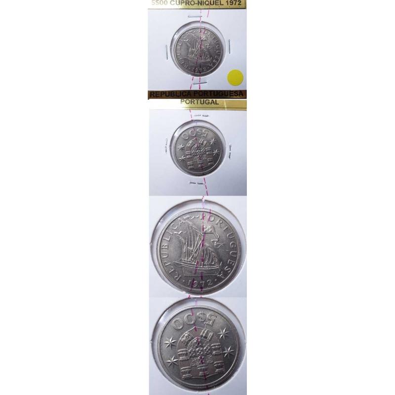5$00 CUPRO-NIQUEL 1972 EIXO DESLOCADO