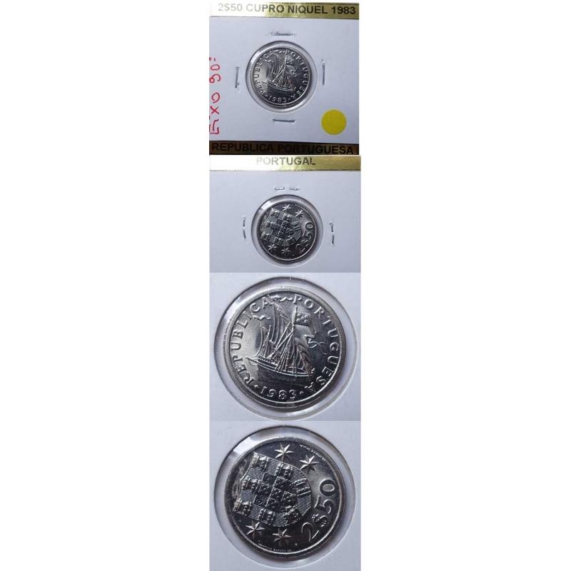 2$50 CUPRO-NIQUEL 1983 EIXO DESLOCADO A 90º