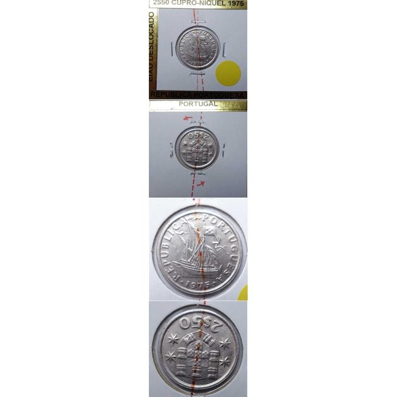 2$50 CUPRO-NIQUEL 1975 EIXO DESLOCADO