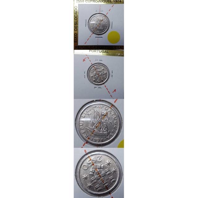 2$50 CUPRO-NIQUEL 1974 EIXO DESLOCADO