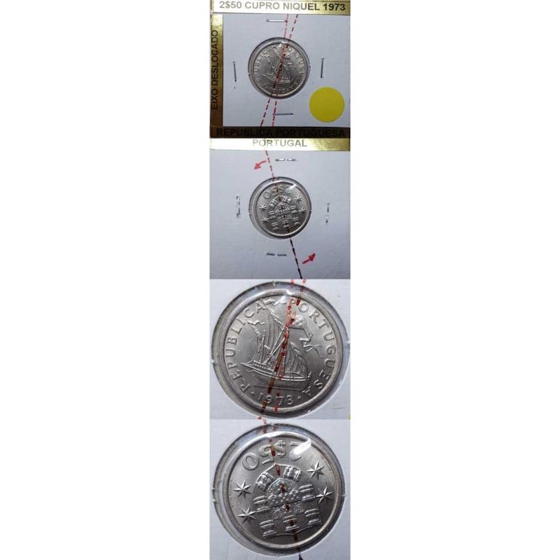 2$50 CUPRO-NIQUEL 1973 EIXO DESLOCADO