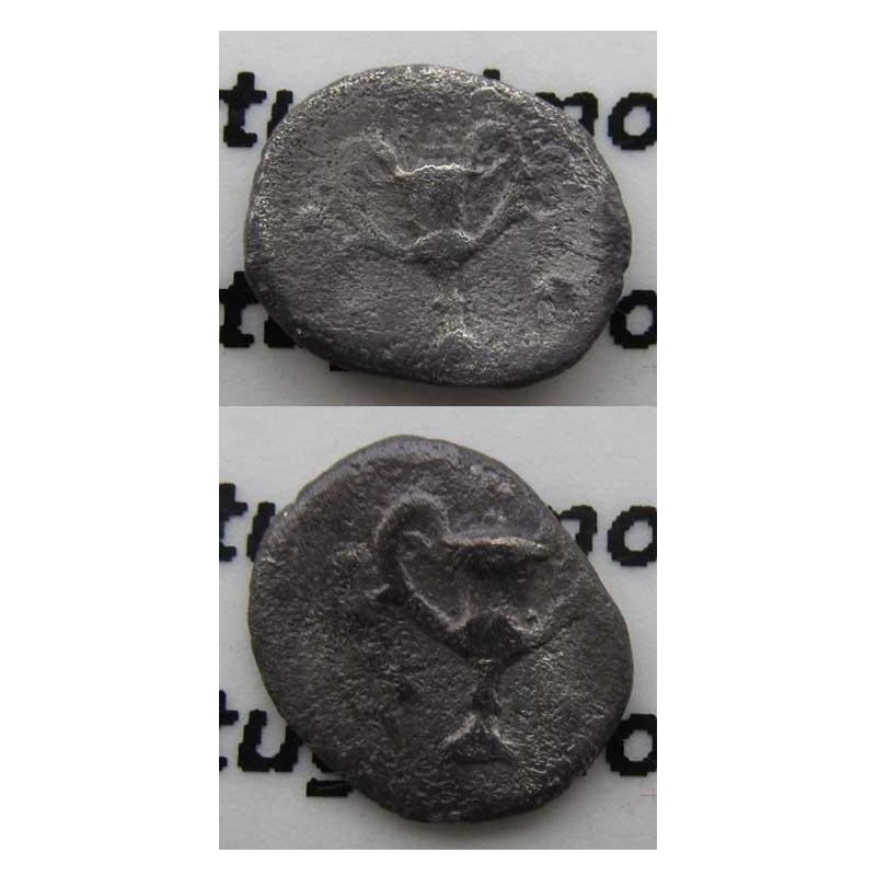 OBOLE PRATA (334 a.C. A 302 a.C.) CALABRIA - TARANTO ( ITÁLIA)