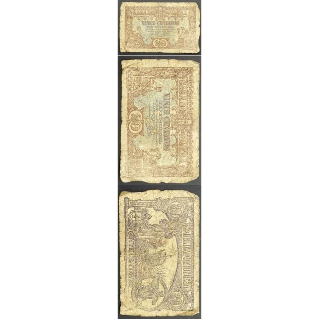 CÉDULA OFICIAL CASA DA MOEDA - 20 CENTAVOS 1922 ( MUITO CIRCULADA )