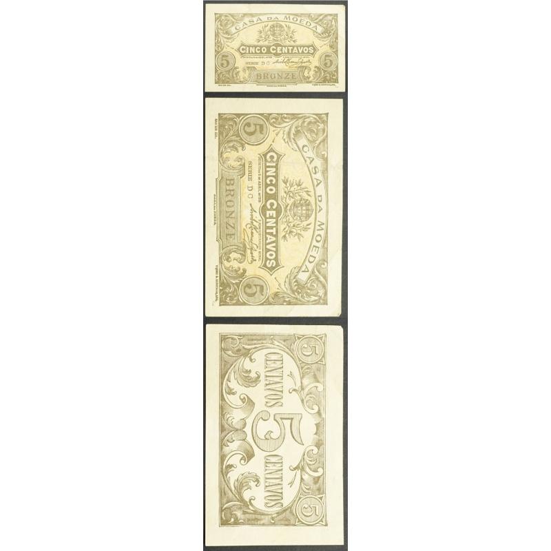 CÉDULA OFICIAL CASA DA MOEDA - 5 CENTAVOS 1918 ( CIRCULADA )