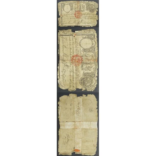 APÓLICE REAL ERÁRIO - 1$200 REIS 1805 - DATA MANUSCRITA - COM CARIMBO DE D.MIGUEL I 1828 ( CIRCULADA +)