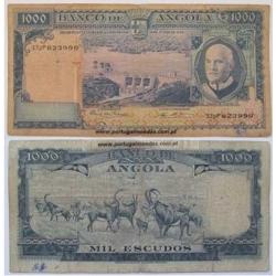 ANGOLA - NOTA DE 1000 ESCUDOS 1970 ( CIRCULADA )