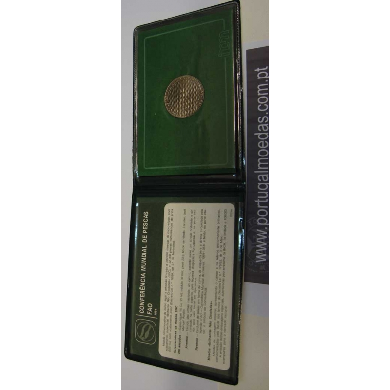 CARTEIRA BNC 250$00 (1984) CONFERÊNCIA MUNDIAL DAS PESCAS